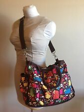 Le SportSac Diaper baby tote bag. Large cross body, brown, mouse mice print