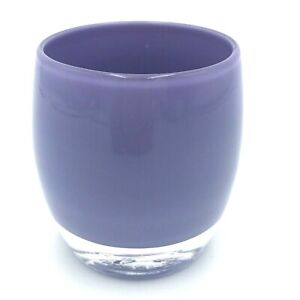 """glassybaby Glassy Baby Votive Handblown USA Purple SISTER 3.5"""" Candle Holder OOS"""