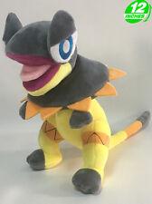 BIG 12'' 30CM Pokemon Heliolisk Plush Animal Stuffed Doll Grey Yellow PNPL9373