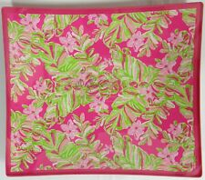 Lilly Pulitzer Bent Glass Dish Catchall Tray Dresser Caddy Jungle Tumble 8x7 in
