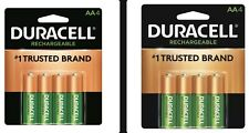 8 DURACELL AA Rechargeable NiMH 2500 mAh 1.2V Batteries Lowest Price Free Ship!!