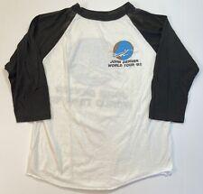 Vintage John Denver 80s Tour T Shirt Baseball Ringer Rocky Mountain Virginia L