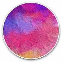 2 x Vinyl Stickers 7.5cm - Paint Art Ombre Pattern Pink Blue Cool Gift #16990