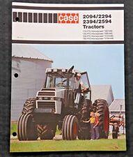 Genuine 1983 Case 2094 2294 2394 2594 Tractor Brochure Catalog Clean