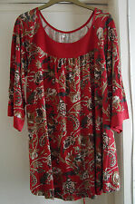 Femmes Old Navy (Gap famille Brand) Rouge Motif Tunique Style Femme Taille XL