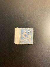 Timbre France, N°127, mouchon 25c bleu, bord de feuille, Neuf, cote: 125€