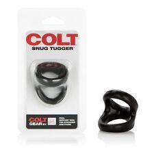 COLT Dual Snug Tugger C-ring C&B Harness Erection Enhancer Penis Ring Black