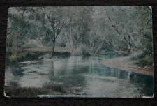 Vintage Color Photograph Postcard, A Twilight Scene on Minnehaha Creek, Minn.