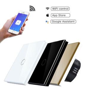 1/2/3 Gang Smart Light Switch WIFI Wall Touch Panel Socket Alexa Google Home EU