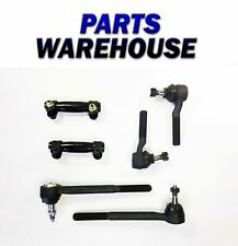 6 Piece Kit 2 Inner 2 Outer Tie Rod Ends 2 Adjusting Sleeves 1 Year Warranty