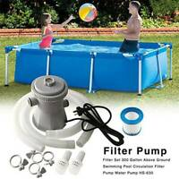 240V Electric Swimming Pool Filter Pump For Above Ground Pools Cleaning @nue