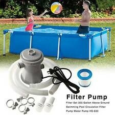 240V Electric Swimming Pool Filter Pump For Above Ground Pools Cleaning Tool-UK
