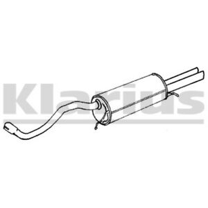 1x KLARIUS OE Quality Replacement Rear / End Silencer Exhaust For AUDI Petrol