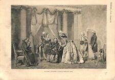 La tante à succession Tableau de Jules Worms peintre GRAVURE ANTIQUE PRINT 1873