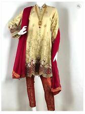 THREE PIECE SHALWAR KAMEEZ SUIT PAKISTANI INDIAN DRESS SALWAR AND DUPATTA XL