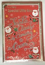 To A Very Special Little Boy - Santa Clause Is Coming To Town - Christmas Card