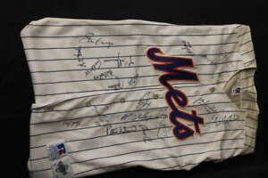 2002 NEW YORK METS TEAM SIGNED JERSEY BOBBY VALENTINE ORDONEZ JSA LOA ZA575