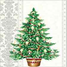 Christmas 20 Paper Lunch Napkins LOOKING FOR CHRISTMAS Winter Silver Tree / D