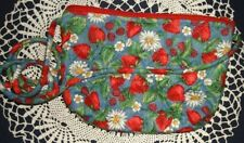 Strawberry Purse Bag Chelsea Creations Quilted Shoulder Handcrafted