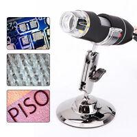 50x-500X 2MP 8LED Light USB Endoscope Video Camera Digital Microscope Magnifier