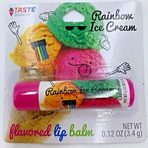 Taste Beauty rainbow ice cream 🌈 🍦  lip balm single stick