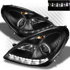 For HID Model 05-11 Mercedes-Benz SLK Class Halo LED Blk Pro Headlights Lamp