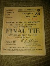 FA Cup Final Ticket 1955 1