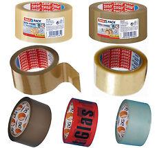 Tesa Klebeband Packband Paketband  Klebebänder Vorsicht Glas rot Warnklebeband