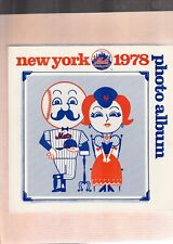 1978  Mets Photo Album with 25 Colored Player Photos and Mgr. Coach Page w/Mays