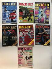 Vintage Black Belt Magazines Lot Of 7 1987 Karate Martial Art Tae Kwon Do Judo