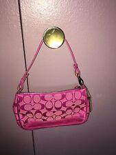 Coach pink signature demi suede bag. Vintage in MINT condition