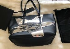 Kendall + Kylie Handbag Silver Star Tote Metallic Pouch DUST BAG!!