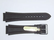"DI-Modell (Germany) Genuine Calfskin 20 mm DARK BROWN Leather Watch Band ""Pilot"""