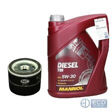 5L Mannol Diesel TDI 5W-30 Motoröl + Ölfilter Dacia Nissan Opel Renault Suzuki