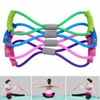 Useful Fitness Equipment Tube Exercise Elastic Resistance Band For Yoga Women's