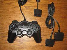 Controller + Verlängerung für Playstation 2 PS2 Gamepad NEU Schwarz