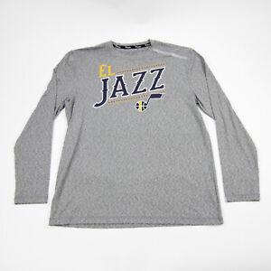 Utah Jazz Fanatics Long Sleeve Shirt Men's Gray New without Tags