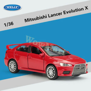 WELLY 1:36 Mitsubishi Lancer Evolution Diecast Pull Back Car Model Collection