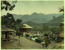 c.1890 JAPAN DAINICHIDO GARDENS GENUINE ANTIQUE ALBUMEN PHOTOGRAPH