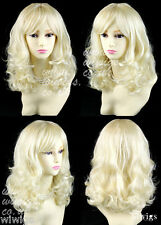 Wiwigs Medium Brown Long Layered Wavy 3/4 Fall Hairpiece Half Ladies Wig