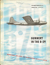 "FULL COLOR REPRINT WWII AAF #27 ""GUNNERY IN THE B-29"" RCR REMOTE-CONTROL TURRET"