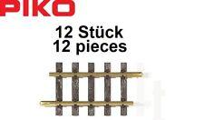 Piko G 35203-S Voie Droite G140, Longueur 139,23 mm (12 Unites)