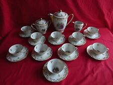 service à café en porcelaine de limoges,marquis,marquise,10 personnes