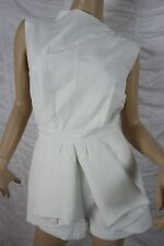 CAMEO THE LABEL ivory white nightswim romper playsuit shorts size M BNWT