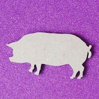 Laserschnitt Holz MDF Schwein Form - Craft, Rustikal, Weihnachten
