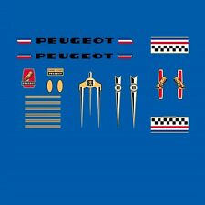 Peugeot Bicycle Frame Stickers - Decals - Transfers, Late 1970s. n.255