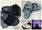 NEW PUMA BY RIHANNA LEADCAT FENTY FUR SLIDE SANDALS PINK BLACK GREY WHITE BOW
