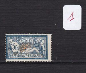 FRANCE 1900 MERSON N°123 5f; bleu -N*2° CHOIX-COTE:100 EUROS-VOIR SCAN R/V-V124