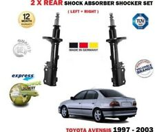 FOR TOYOTA AVENSIS T22 1997-2003 2X REAR LEFT + RIGHT SIDE SHOCK ABSORBER SET