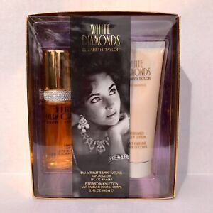 White Diamonds Gift Set Elizabeth Taylor Spray 1 oz and Lotion 3.3 oz Sealed NIB